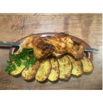 Курица с картофелем на мангале