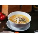 Куриный суп с домашней лапшой и чесночными тостами (250/20/10 г)