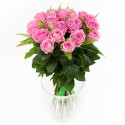 Роза розовая 21 шт