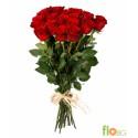 Роза красная 21 шт.